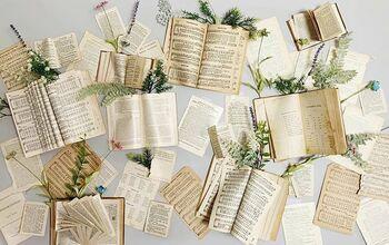Vintage Book Wall Decor