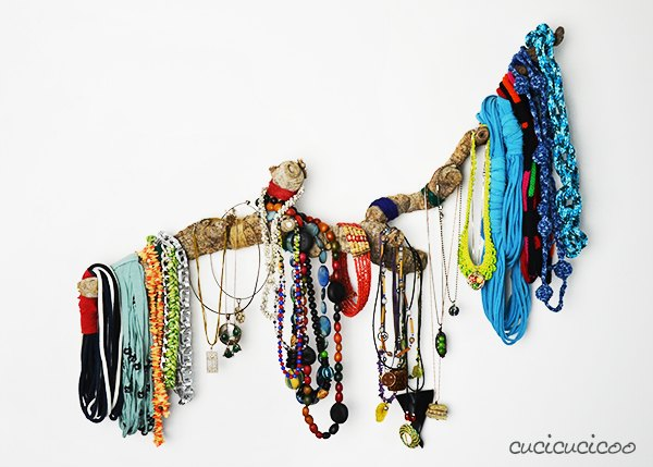driftwood necklace hanger