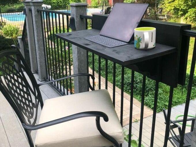 portable slide on bar railing countertop