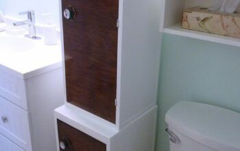 Two Small Cabinets Become One Bathroom Storage Tower