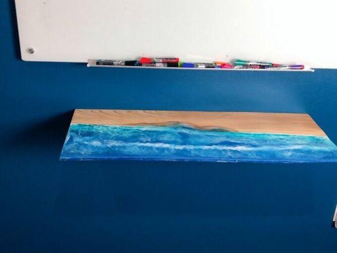 diy folding wall desk space saver