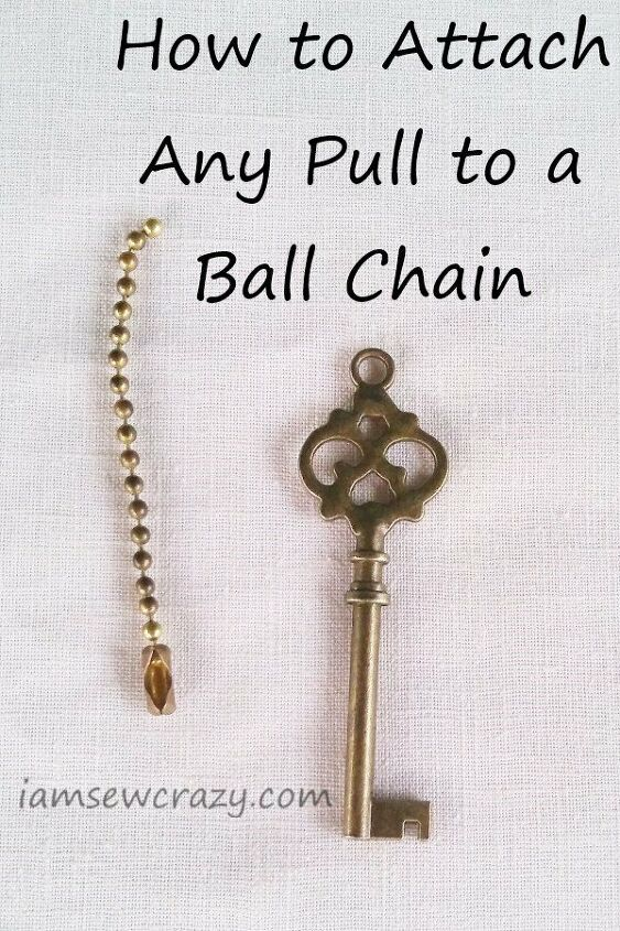 how to attach any pull to a ceiling fan chain