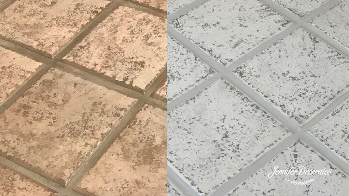 how to paint tile to look like old stone