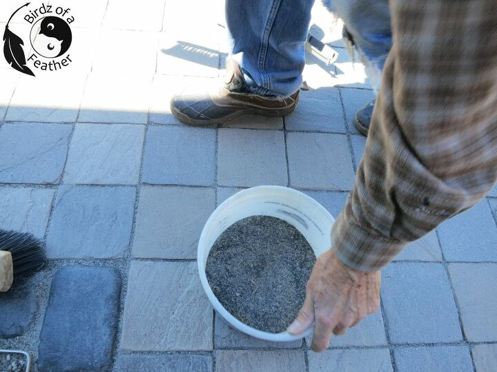 resand a walkway with polymeric sand