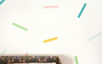 Accent Wall Idea: DIY Confetti Washi Tape Closet