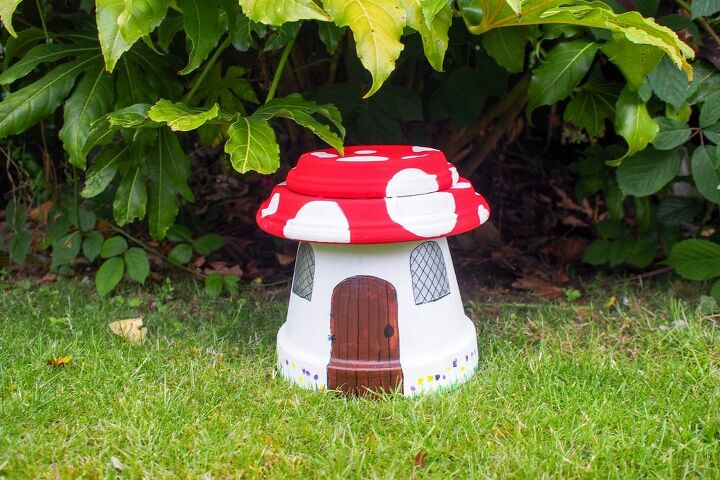 how to make a toadstool fairy house house