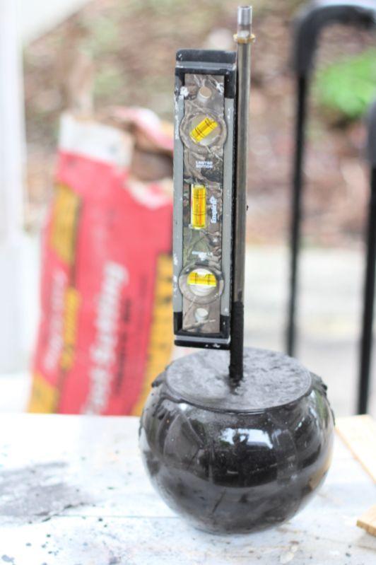 diy quikrete concrete lamp