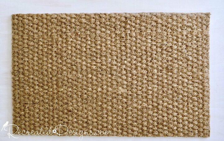 turn a boring ikea mat into a one of a kind welcome mat