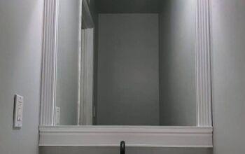An Easy Way to Frame a Bathroom Mirror