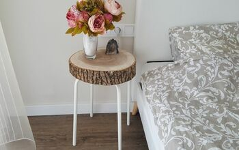 Side Table From Wood Slice