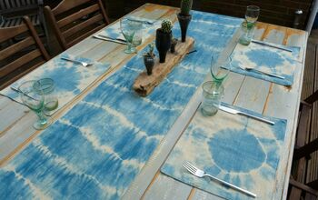 DIY Shibori Table Runner and Table Mats