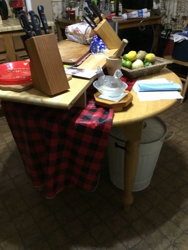 q how to turn my table into an kitchen island
