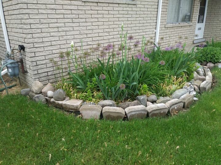 q how can i incorporate bricks and rocks in my flower garden