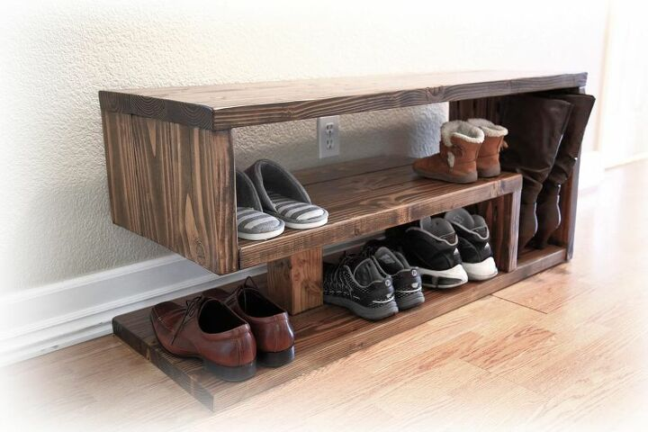 How Build A Shoe Rack Bench Diy Hometalk