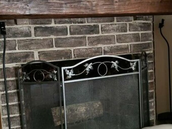 q how do you transform an old ugly bulky fireplace into a small one