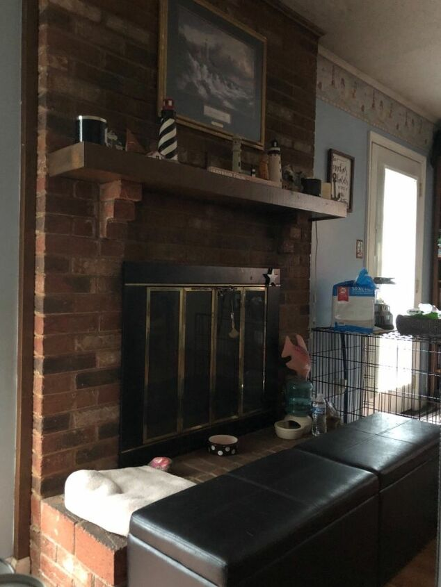 q ideas for a brick fireplace makeover