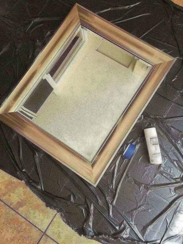 diy bathroom mirror renovation