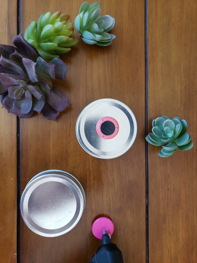 farmhouse mason jar vases succulent magnets