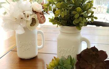 Farmhouse Mason Jar Vases & Succulent Magnets