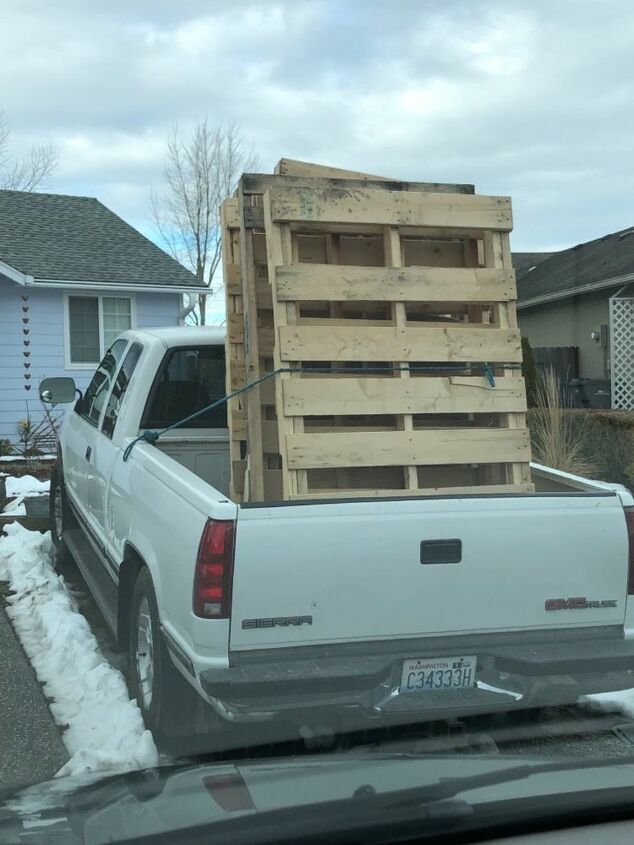 Pallets loaded in the truck
