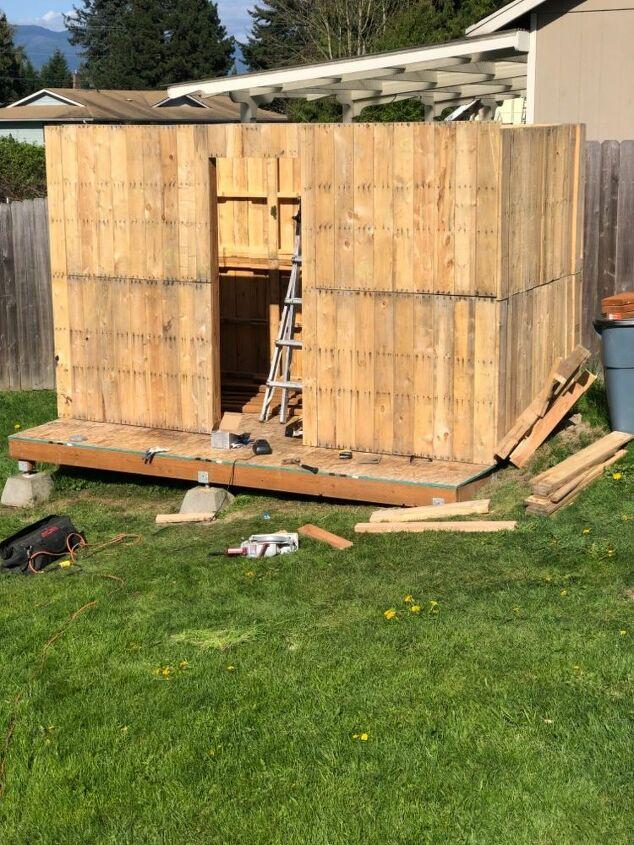 pallet potting shed