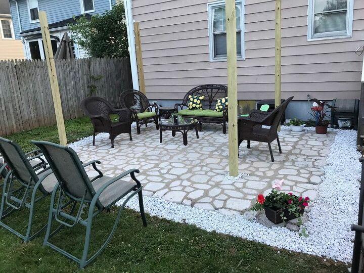 diy patio with walkmaker mold
