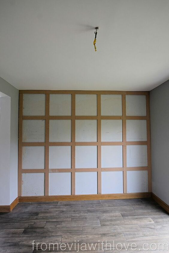 statement panelling on a wall using adhesive