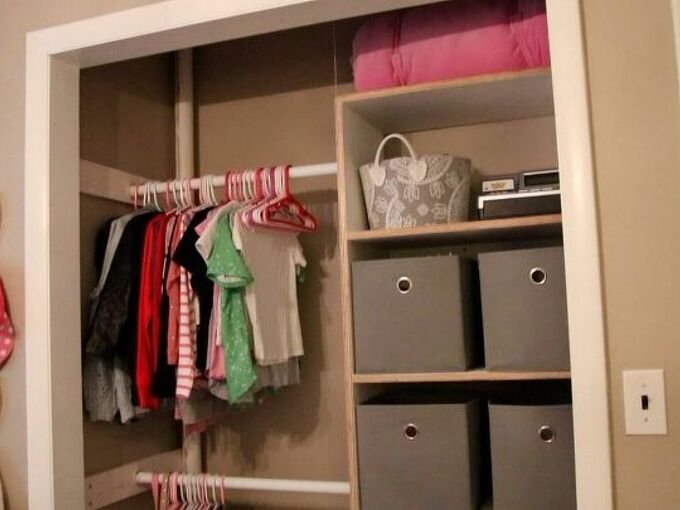 built in closet organizer, Finished closet