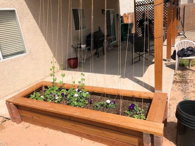 1st time making a raised planter box