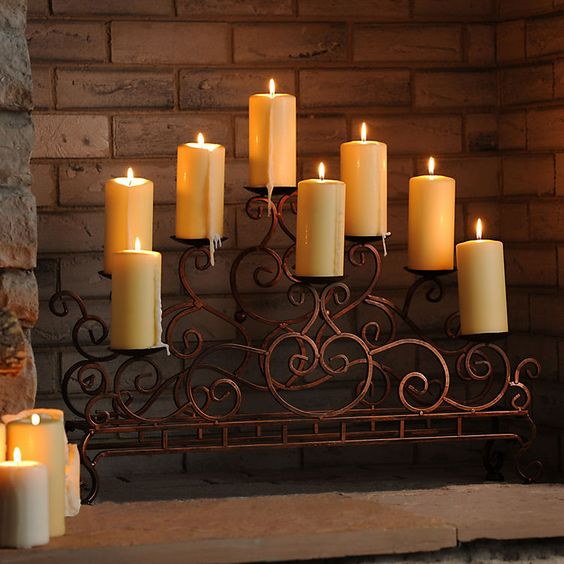 q how to repurpose fireplace candleabrum