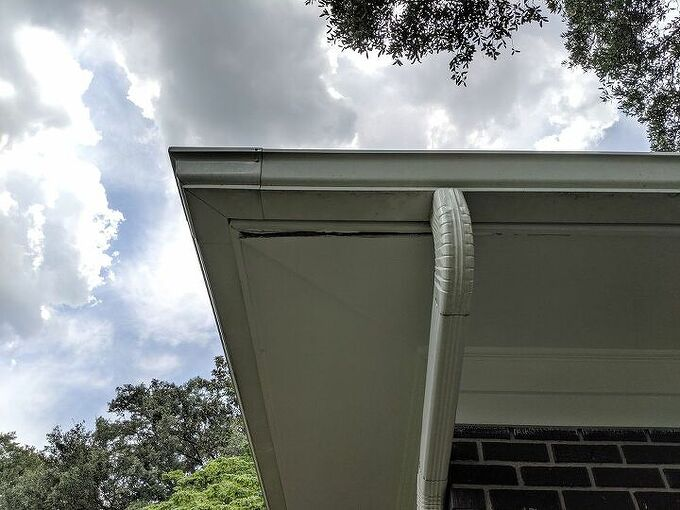q sagging corner soffit repair