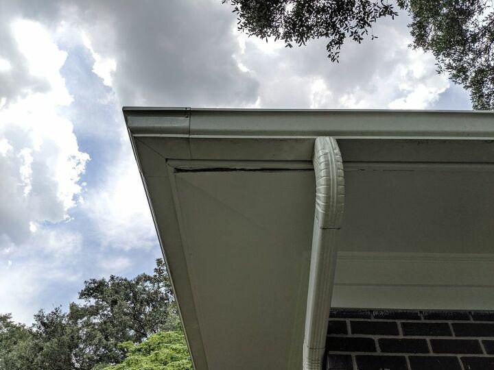 q sagging corner soffit repair
