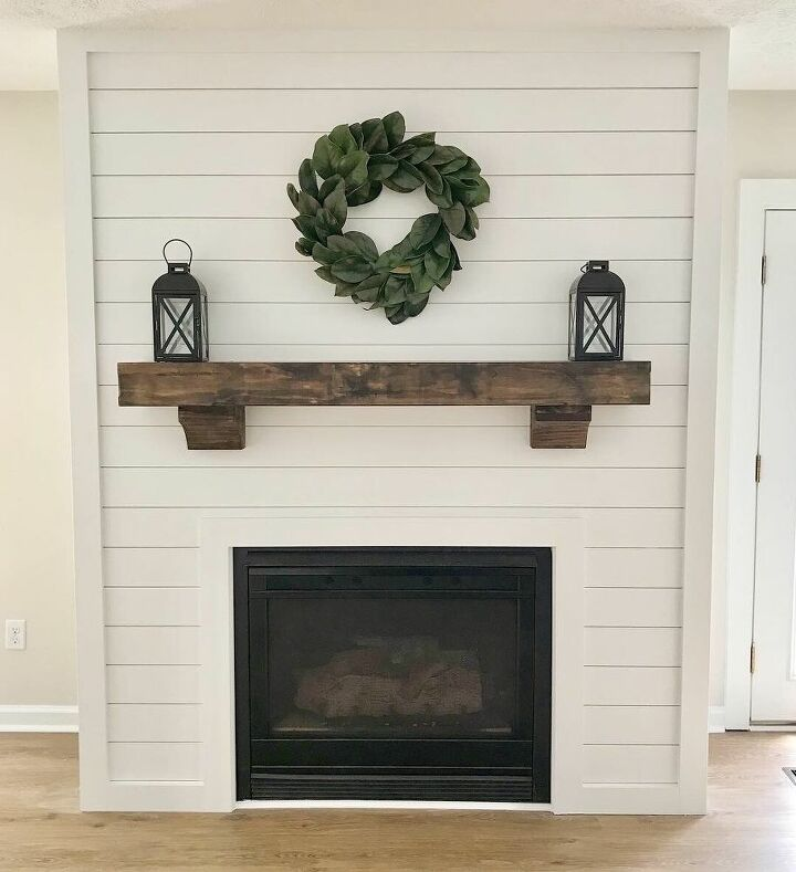 How To Shiplap Fireplace Diy Hometalk