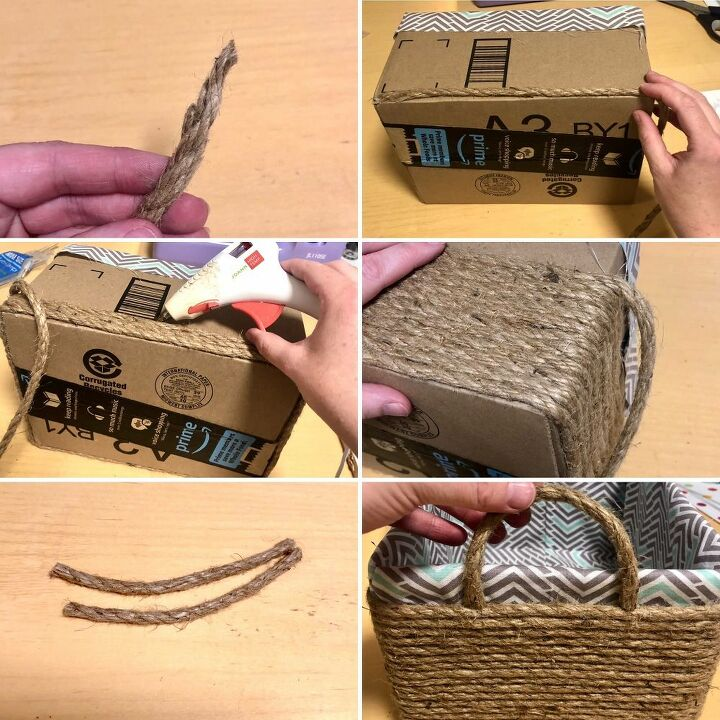 easy sew rope basket