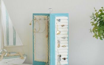 Rotating Jewelry Stand Makeover