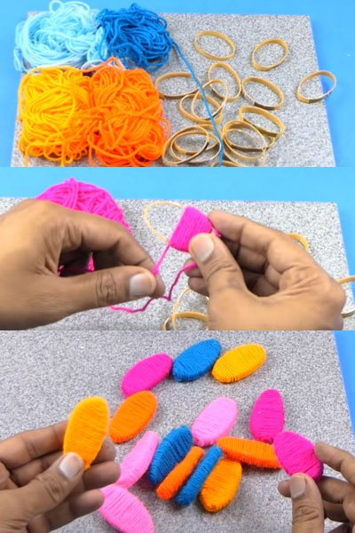 diy best out of waste craft from wool plastic bottles