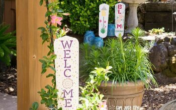 Cute Garden Signs From Old Fan Blades - a Repurpose & Upcycle Project