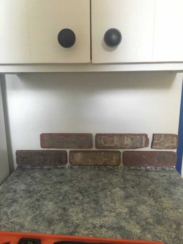 How To Make A Diy Brick Tile Backsplash Hometalk