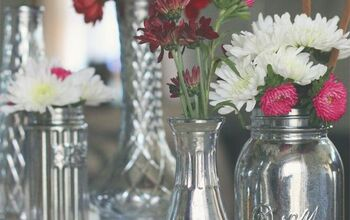 Faux Mercury Glass Vases