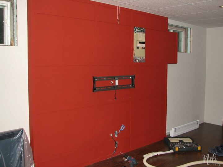how to hide an electrical panel while keeping an easy access