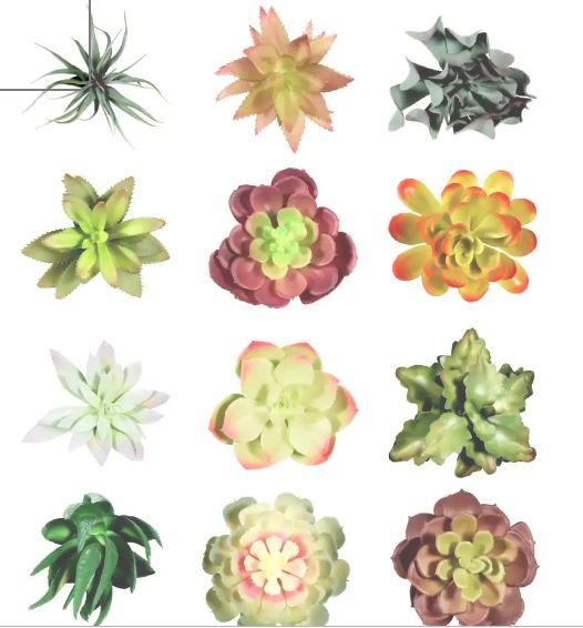 diy faux succulent monogram garden