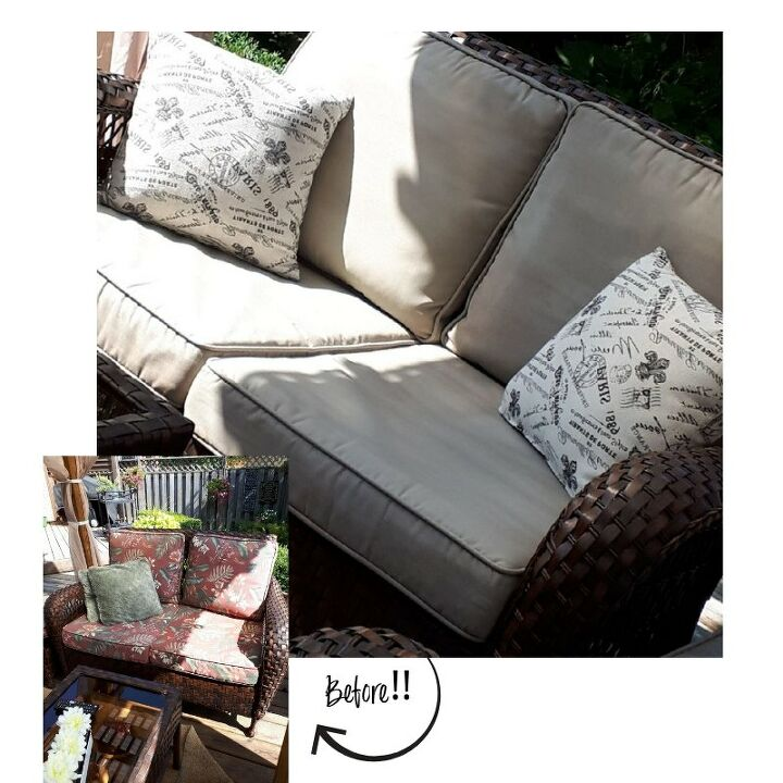 how to paint outdoor cushions