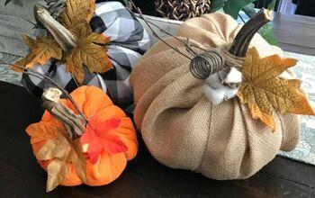Easy Fabric Fall Pumpkins