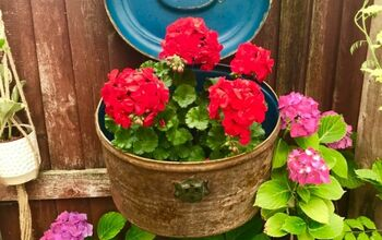 How to Transform a Hatbox Into Delightful Patio Planter