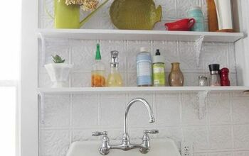 Replacing My Barnwood Shelf With 2 Open Shelves Above My Kitchen Sink