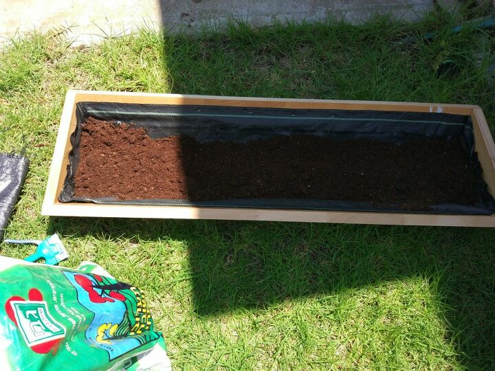 turning a table top into a flower box