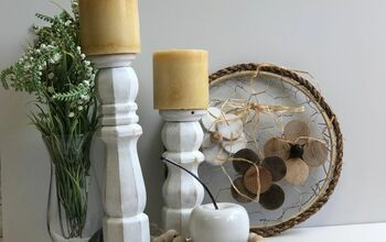 Farmhouse Style Rustic Candle Stand From Wood Scraps - DIY
