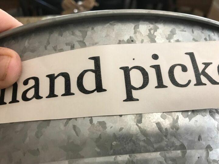 galvanized bucket makeover