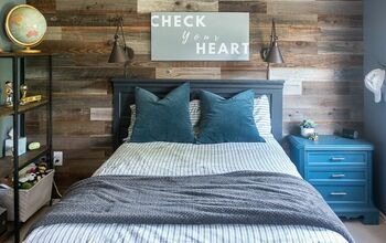 Super Easy Barn Wood Plank Wall