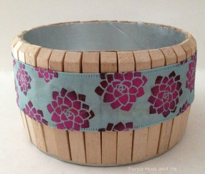 decorative clothespin container